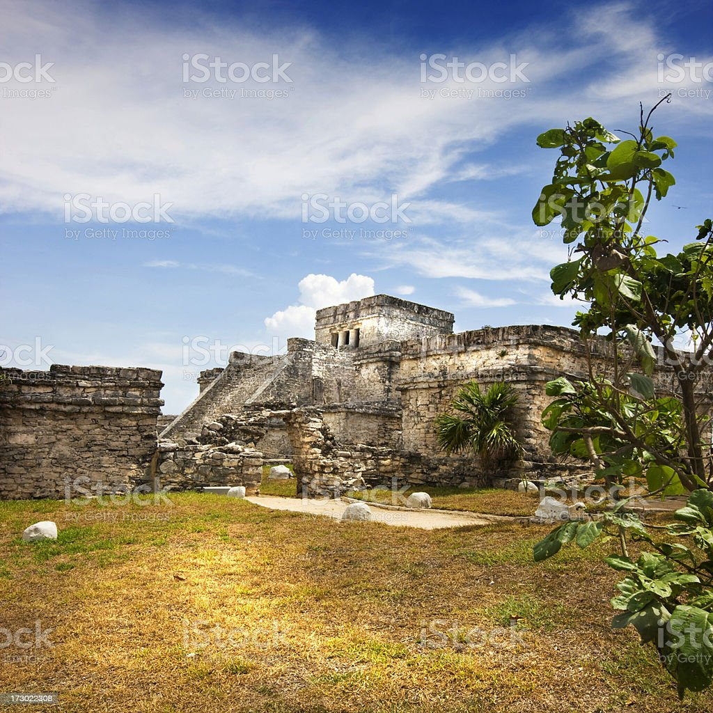 Tulum ruins royalty-free stock photo