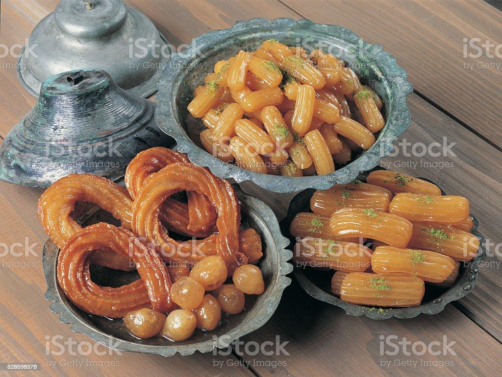 tulumba lokma dessert stock photo