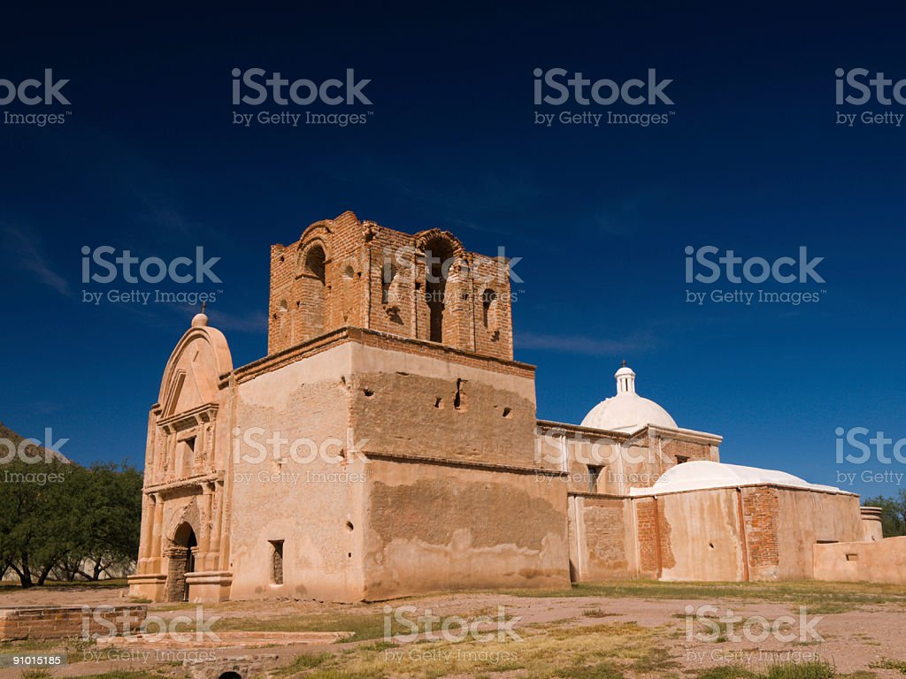 Tumacacori Mission in Arizona stock photo
