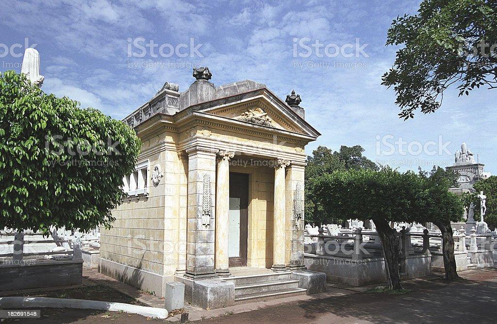 Tumb at the Cemeterio de Colon, Havana stock photo