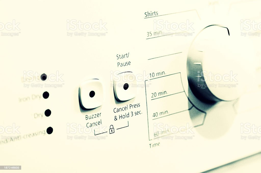 Tumble Dryer Control Panel royalty-free stock photo