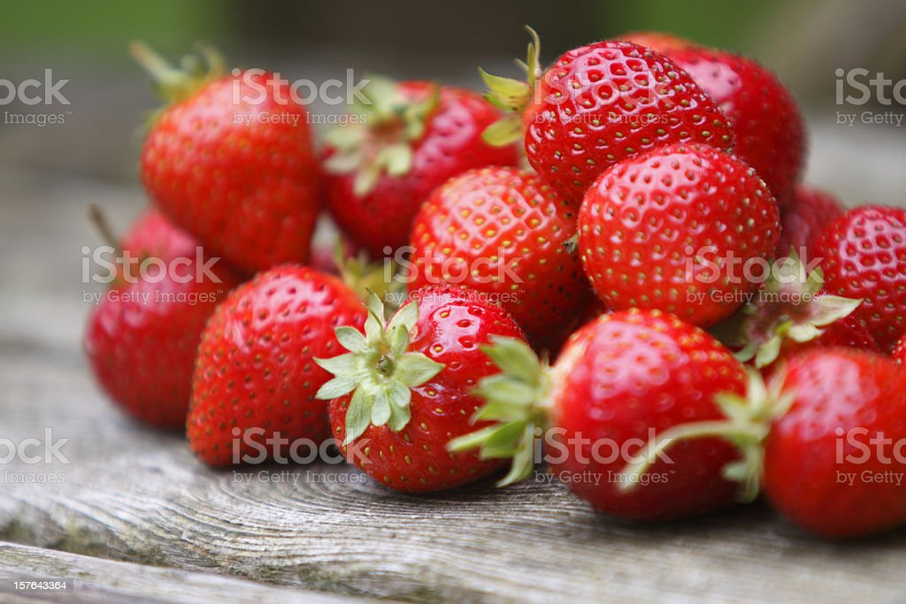 Tumble of Strawberries stock photo