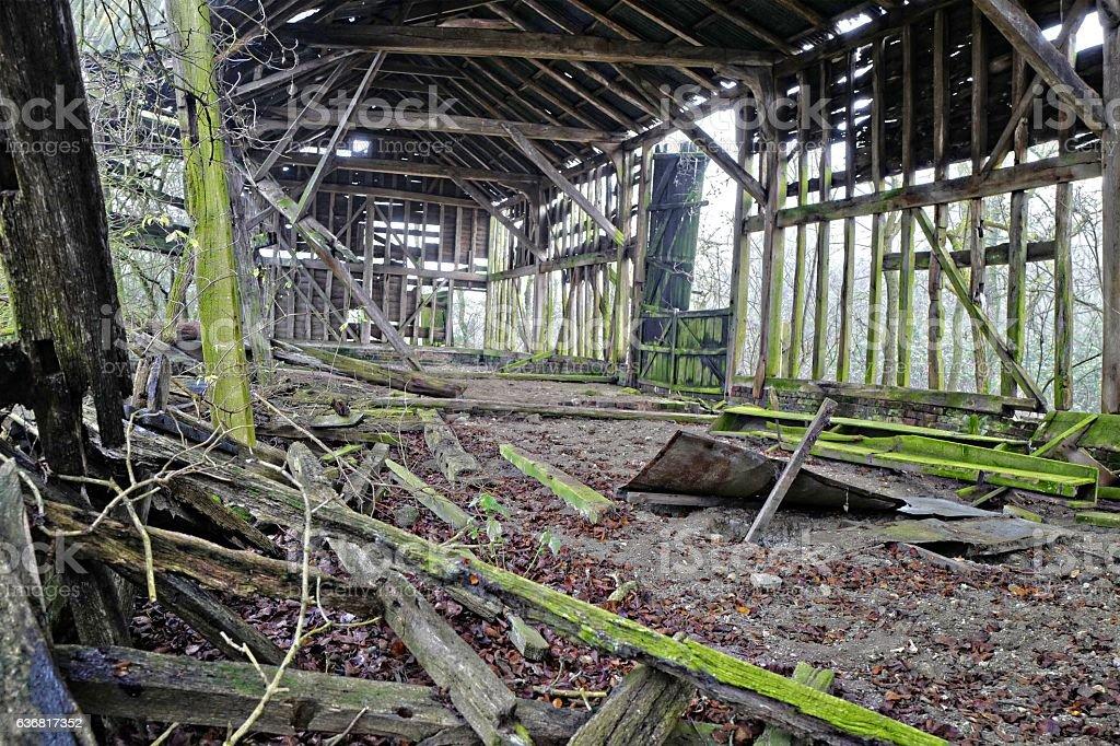 Tumbledown Barn. stock photo