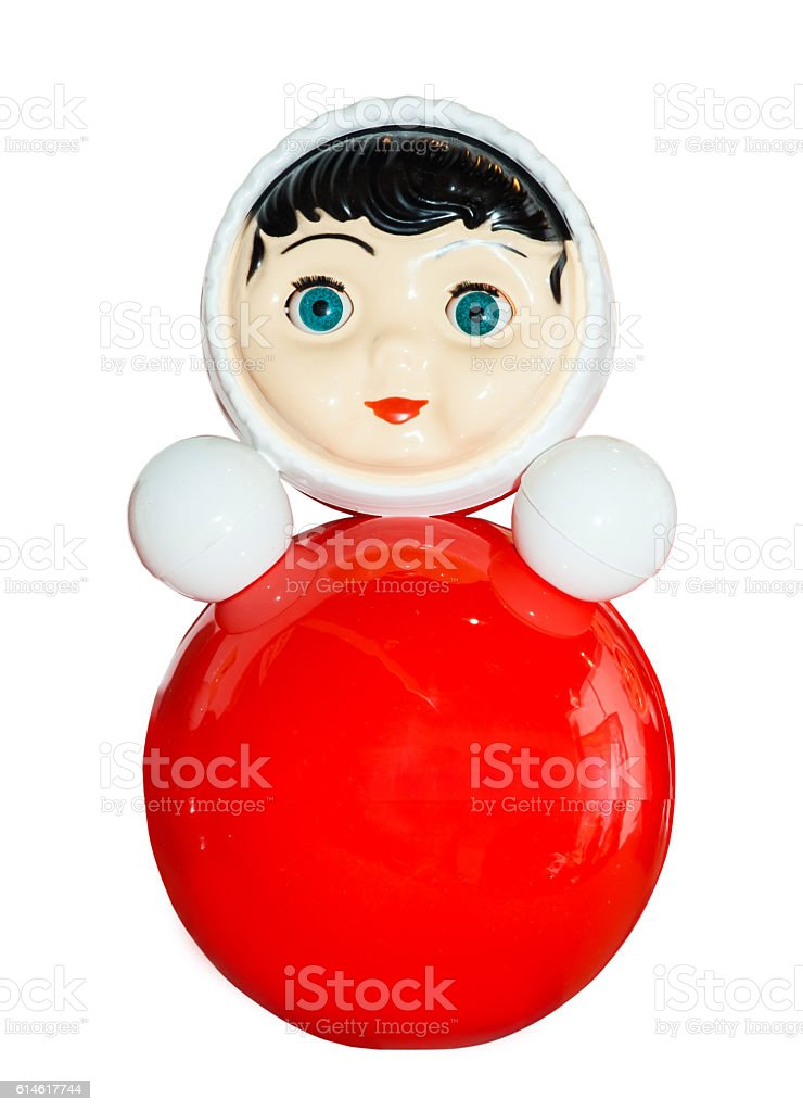 Tumbler kids toy, roly poly stock photo