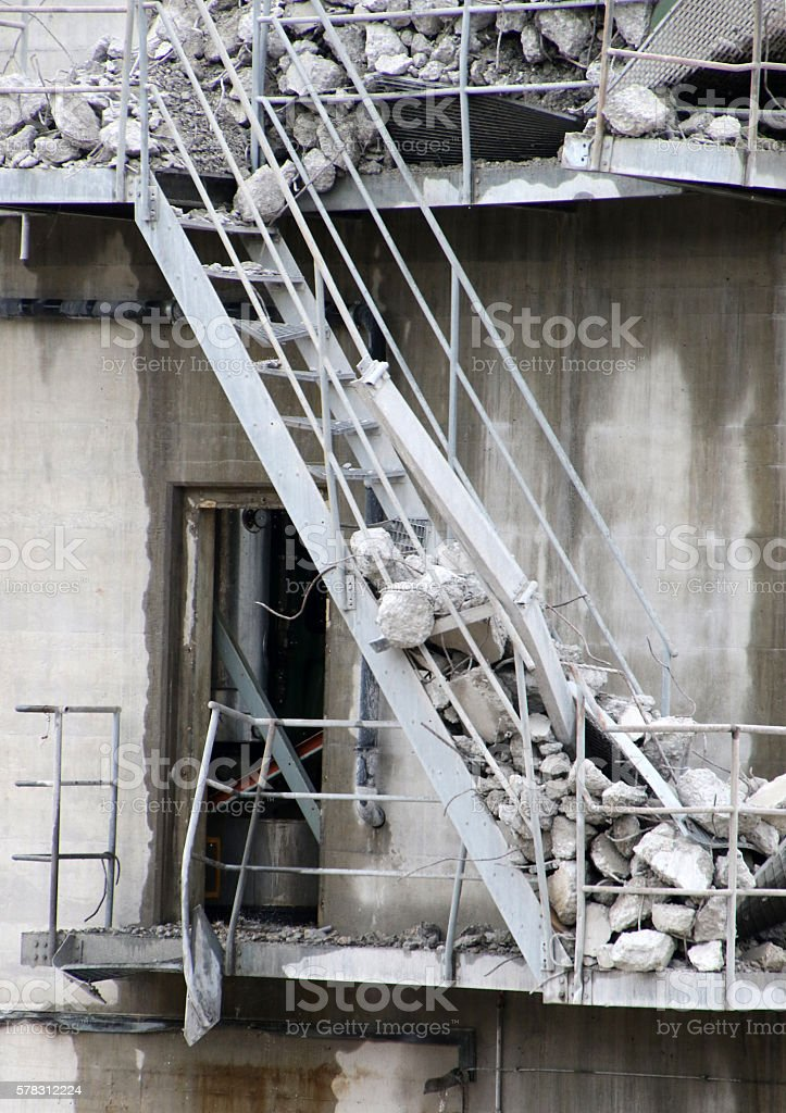 Tumbling Down the Stairs stock photo