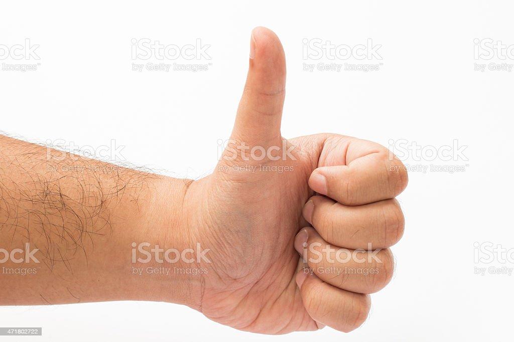 Tumbs up stock photo