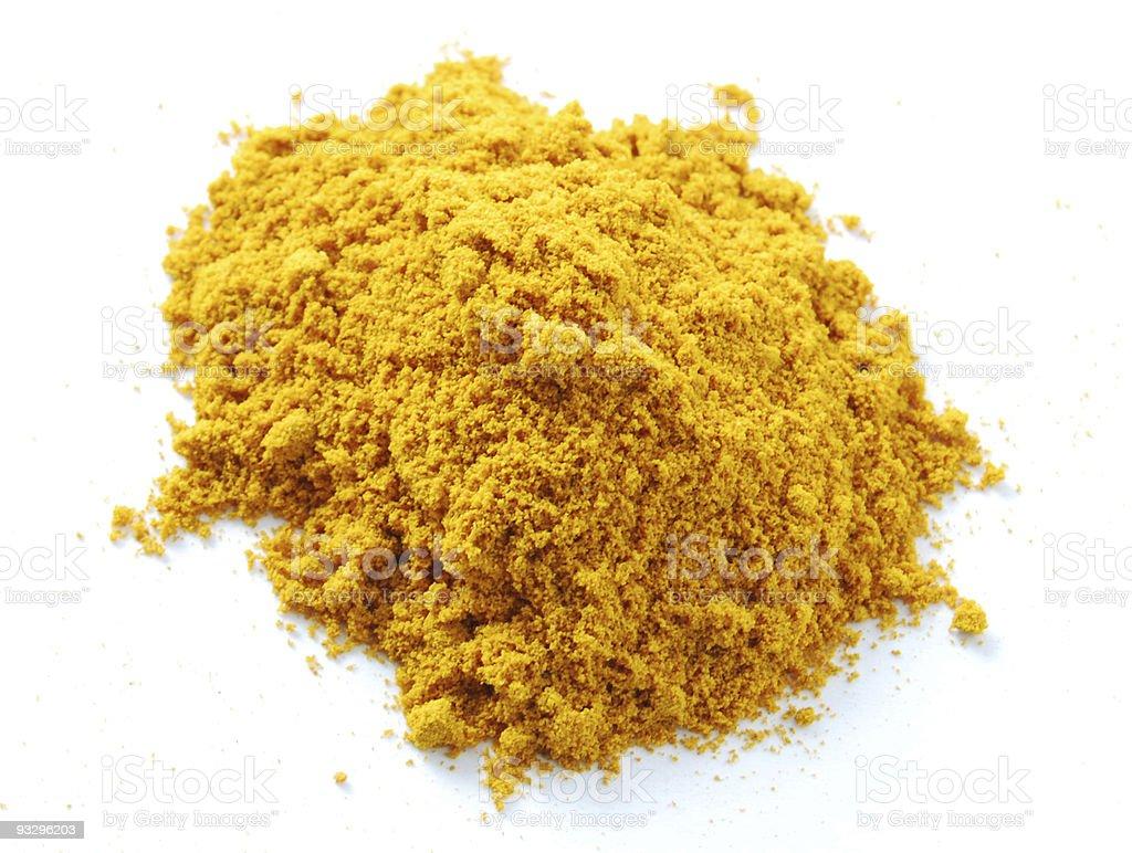Tumeric Powder Heap royalty-free stock photo