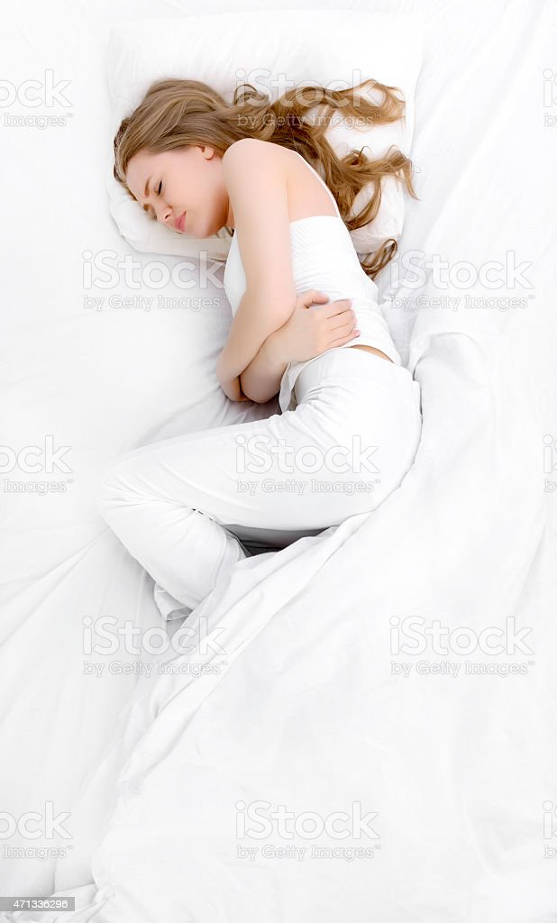 tummy ache stock photo