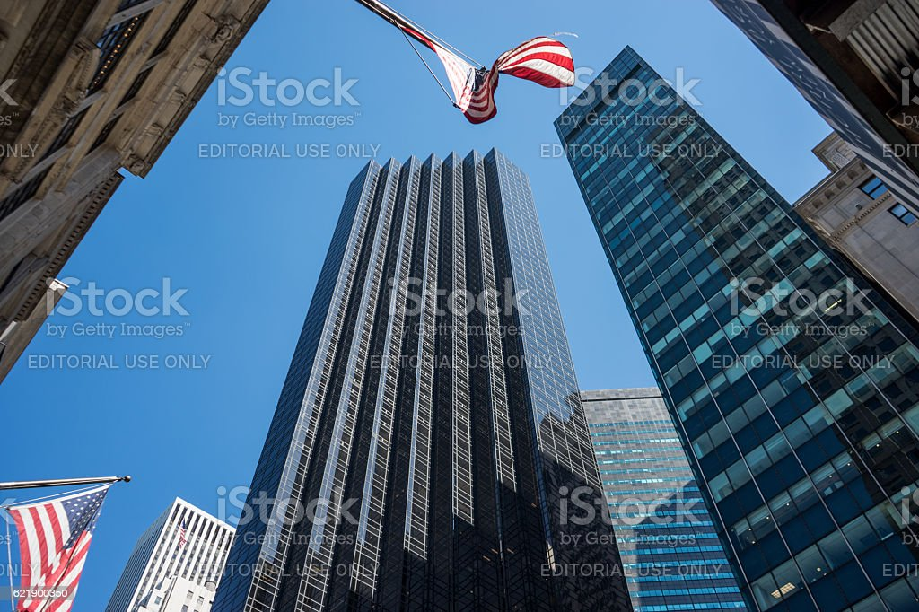 Tump Tower on Fifth Avenue, New York - Stock image stock photo