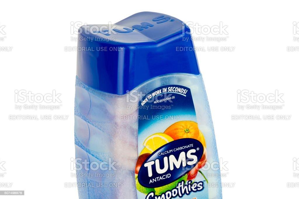 Tums Antacid Bottle stock photo