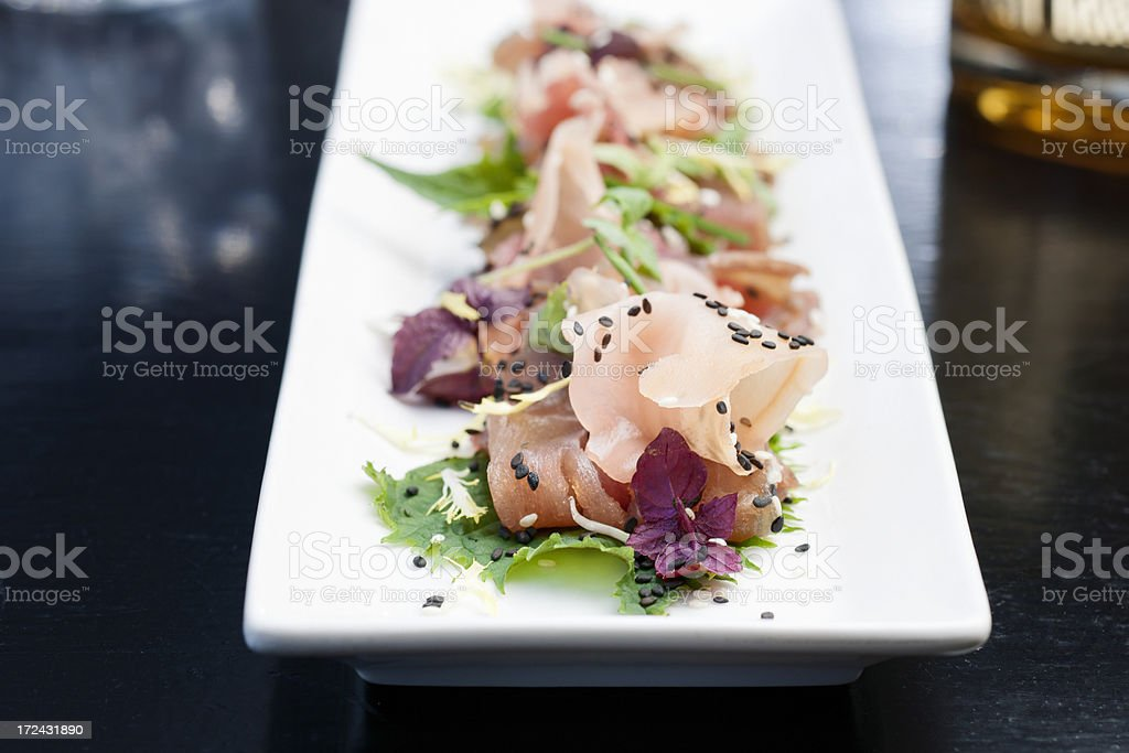 tuna and salmon sashimi royalty-free stock photo