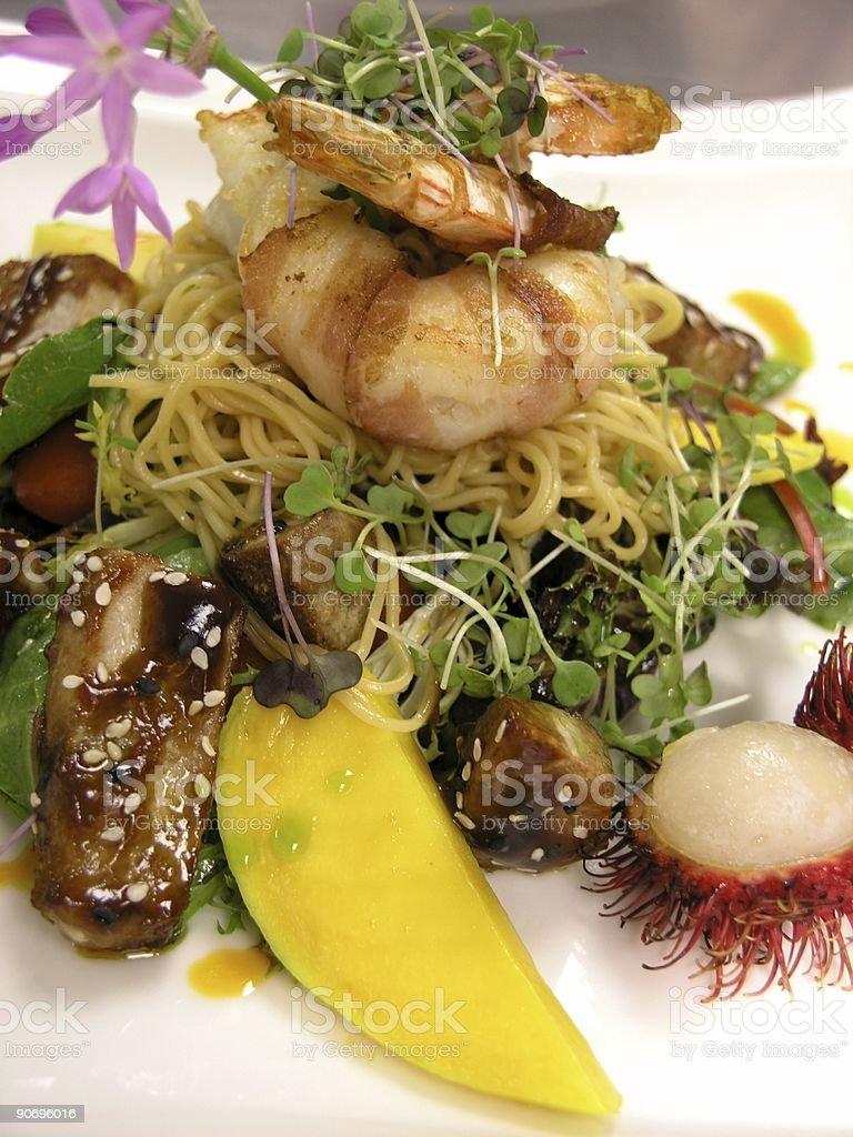 Tuna and Shrimp royalty-free stock photo