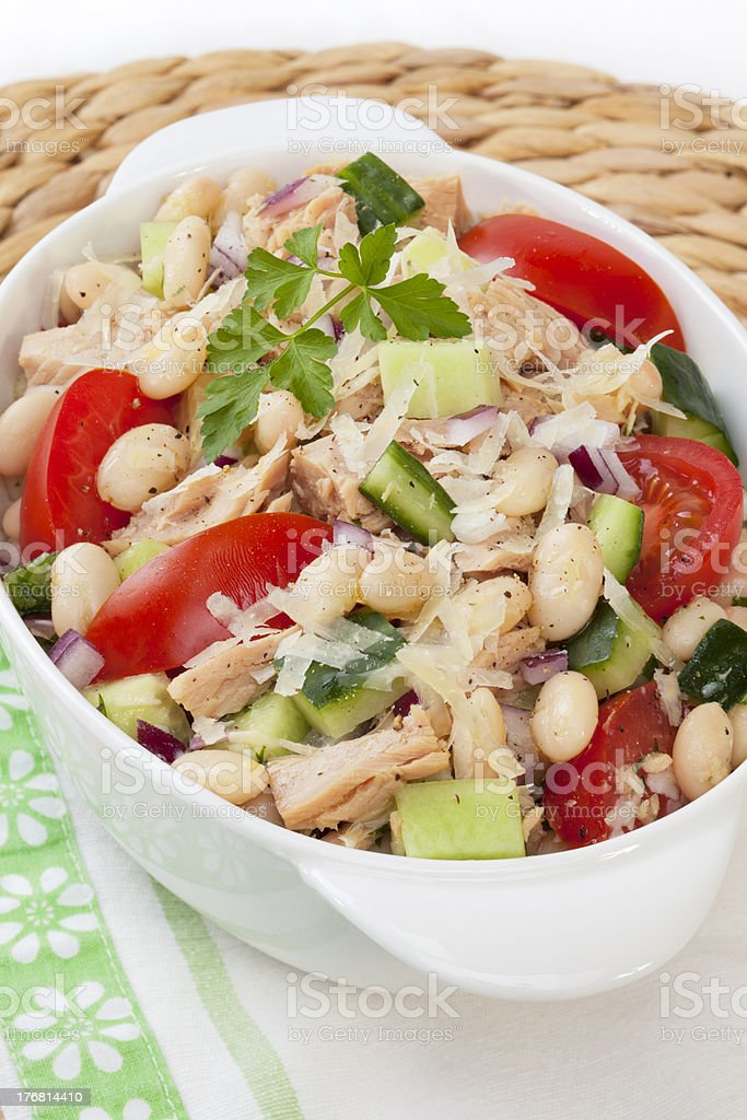Tuna and White Bean Salad stock photo