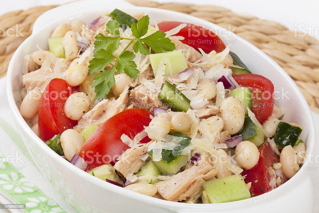 Tuna and White Bean Salad royalty-free stock photo