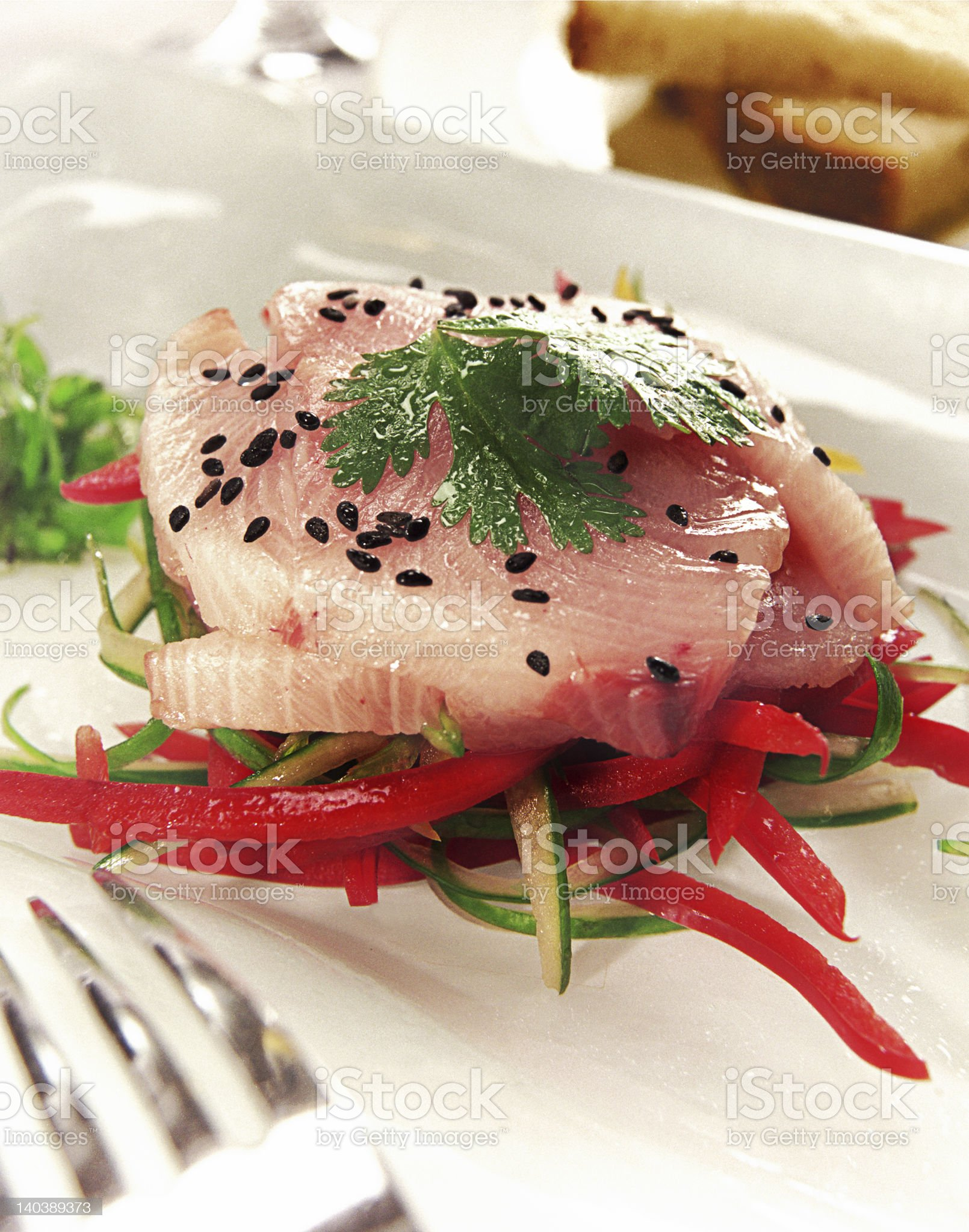 Tuna Appetizer royalty-free stock photo