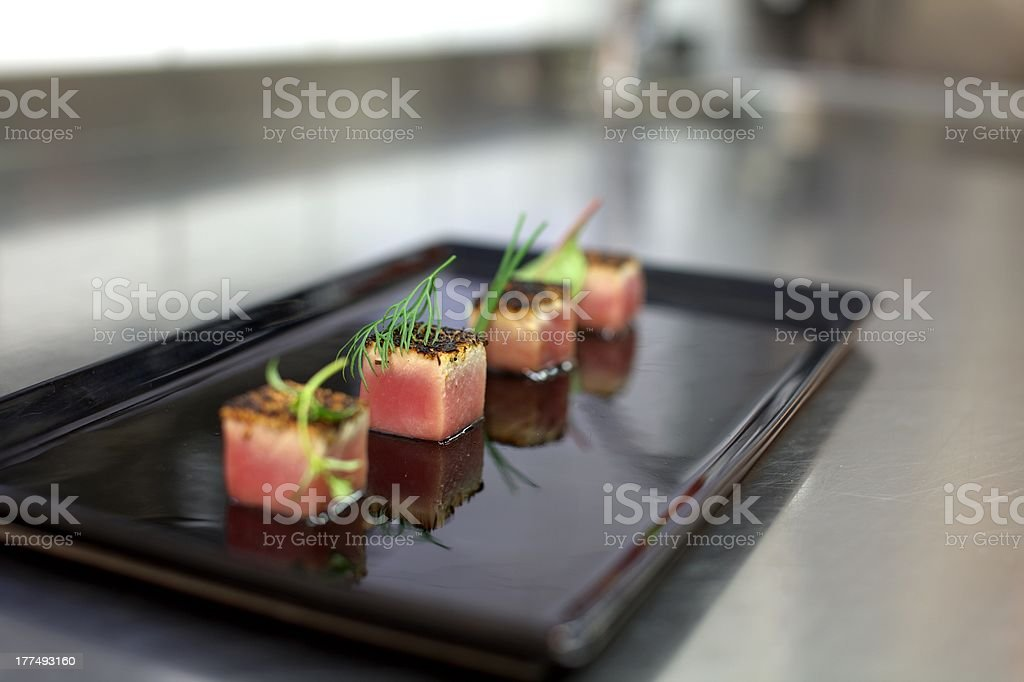 Tuna Blackened stock photo