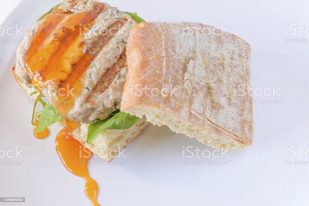 Tuna Burger royalty-free stock photo