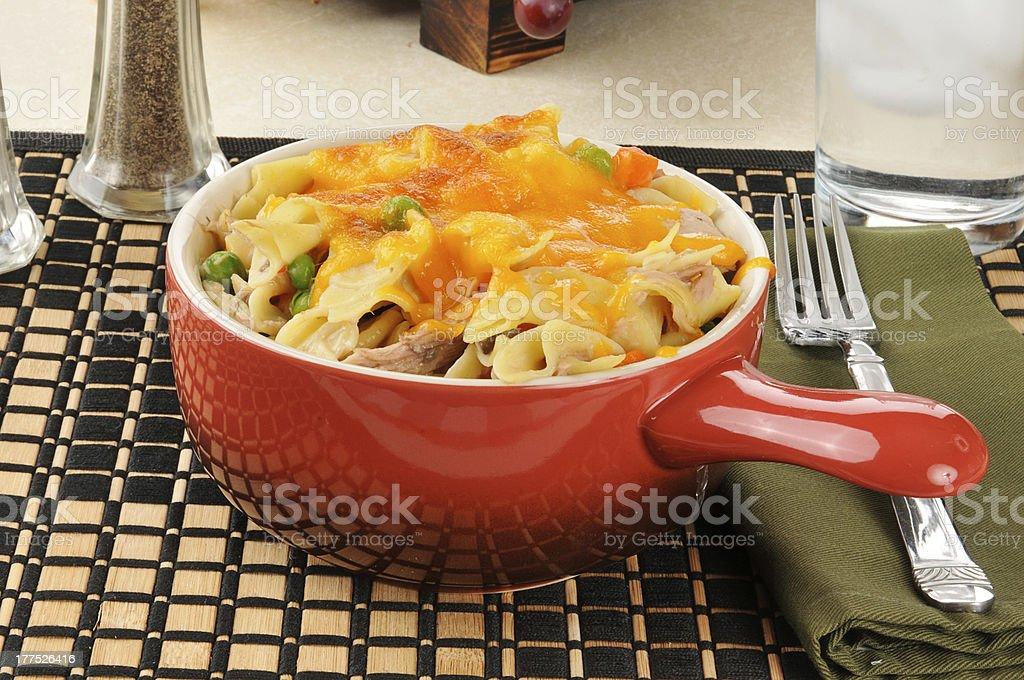 Tuna casserole dinner stock photo