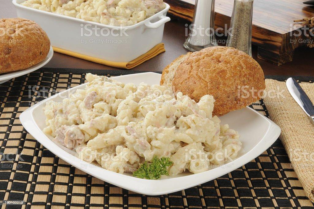 Tuna casserole stock photo
