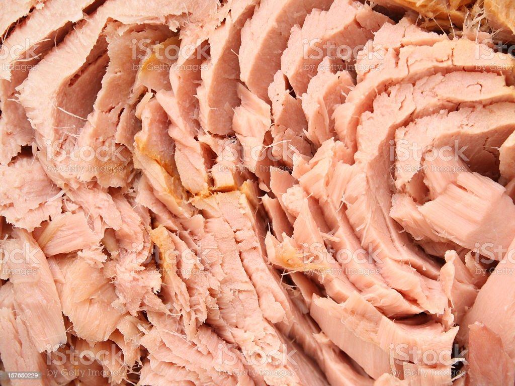 Tuna chunks royalty-free stock photo