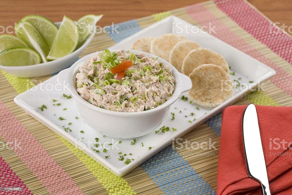 Tuna dip royalty-free stock photo