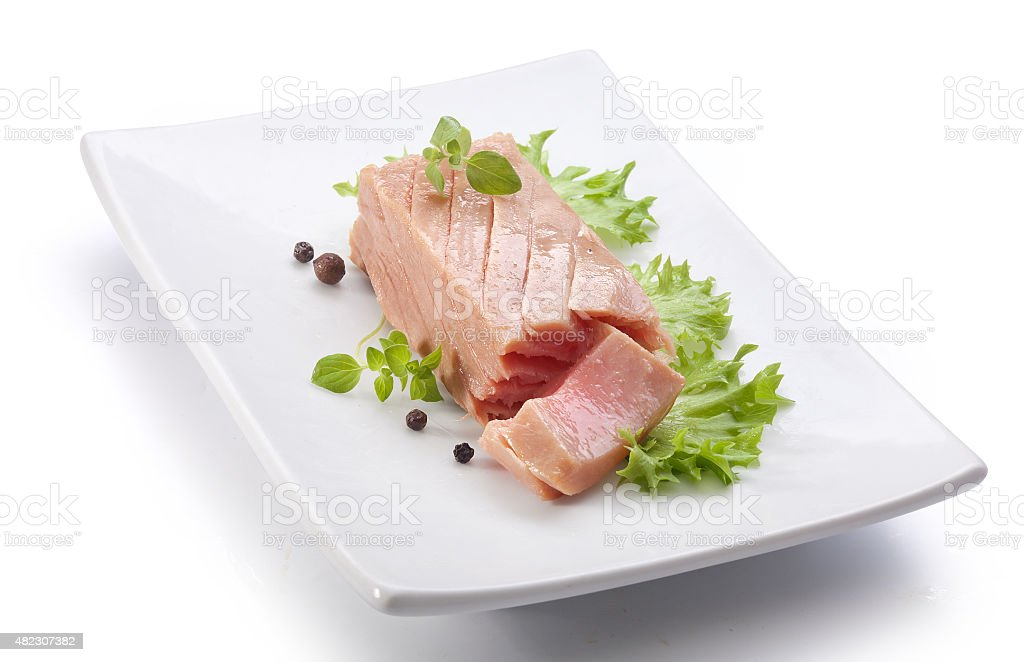 Tuna fillet stock photo