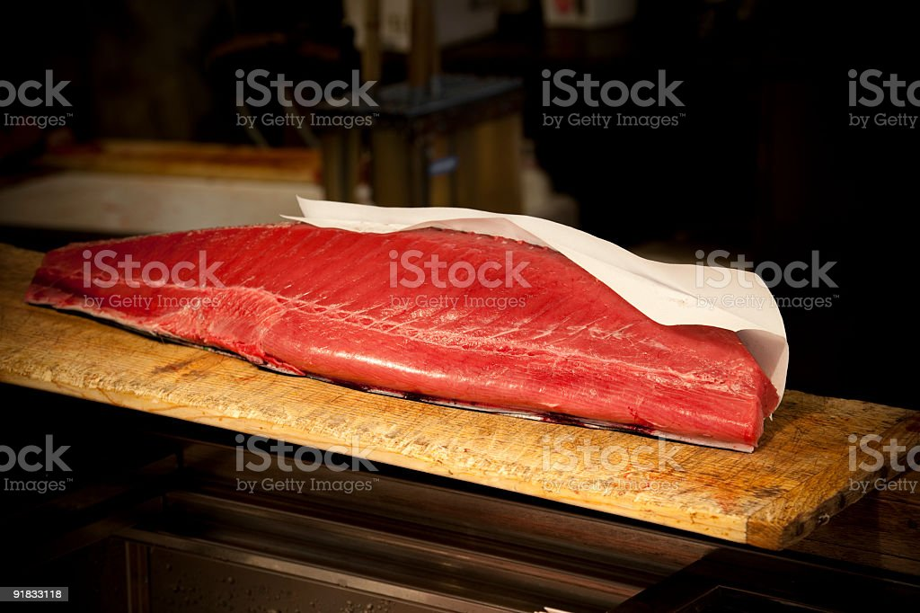 tuna fillet stock photo