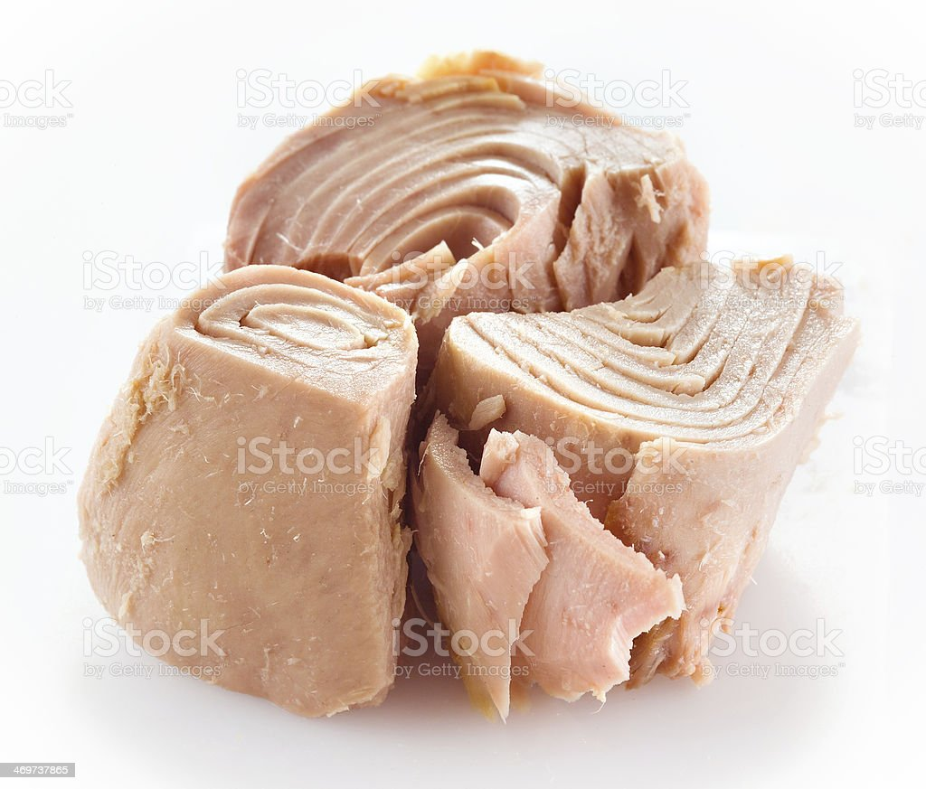 Tuna fish isolated on white stock photo