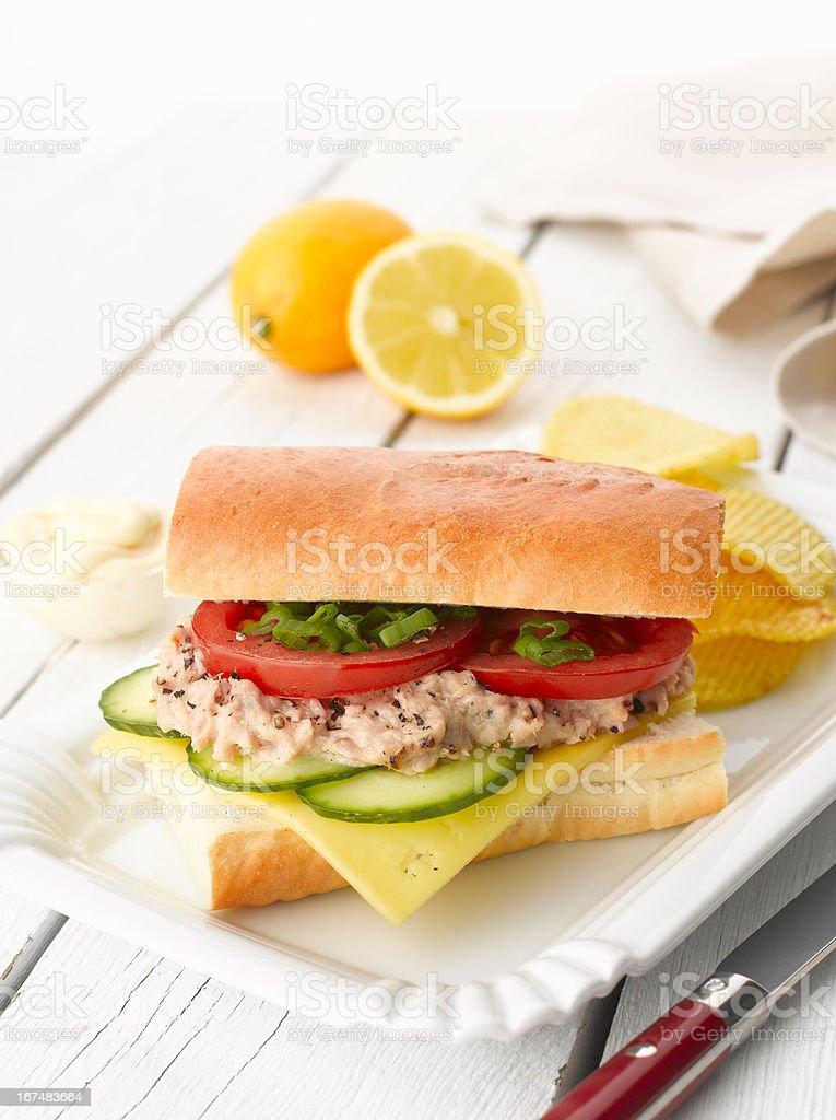 Tuna Fish Salad Sandwich royalty-free stock photo
