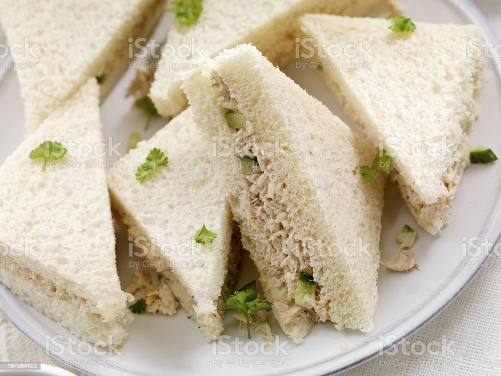Tuna Fish Sandwiches royalty-free stock photo