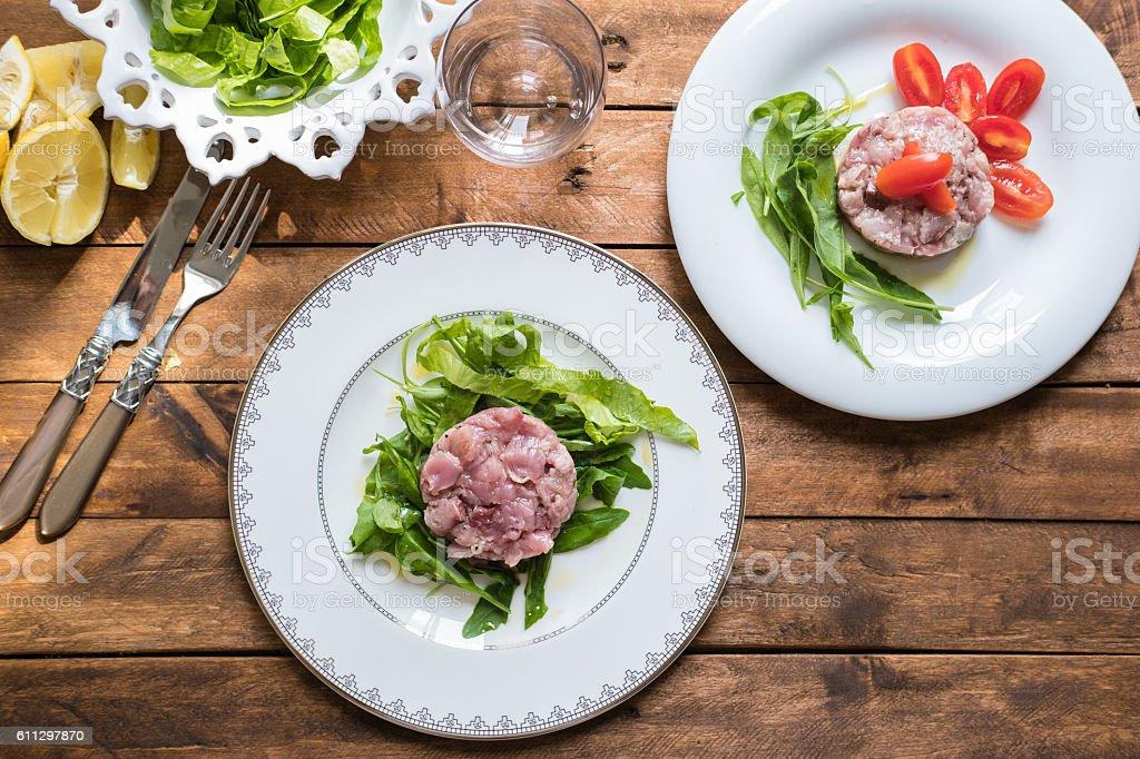 Tuna Fish Tartare stock photo
