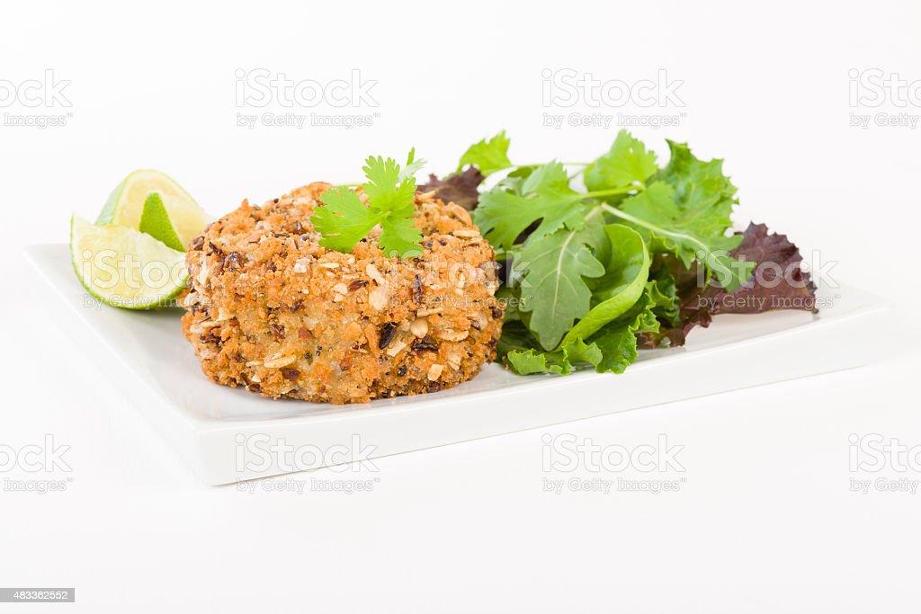 Tuna Fishcake stock photo
