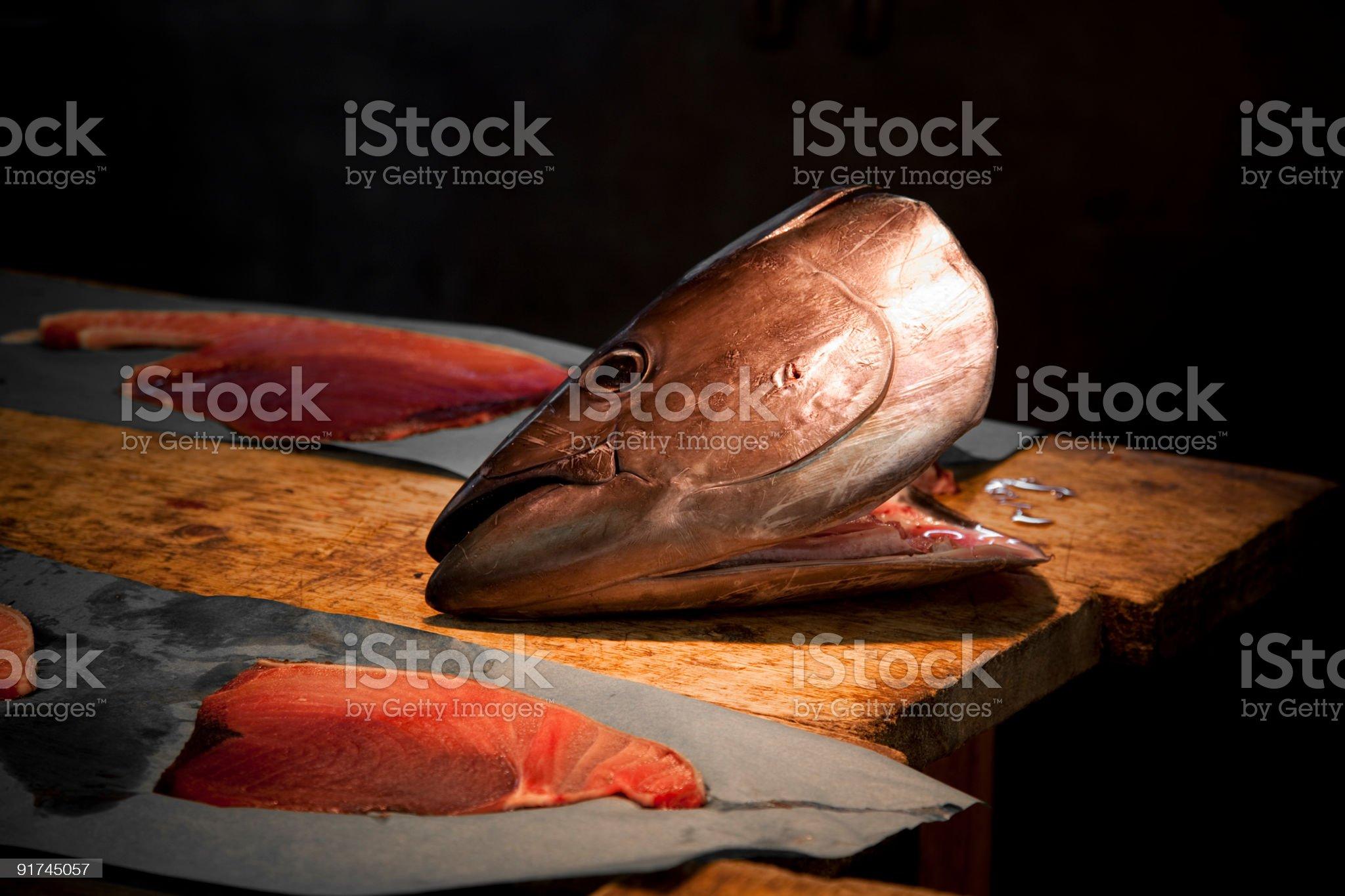tuna head royalty-free stock photo