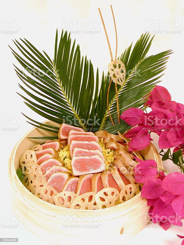 Tuna In Bamboo Steamer royalty-free stock photo