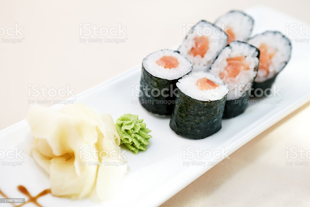 Tuna maki royalty-free stock photo