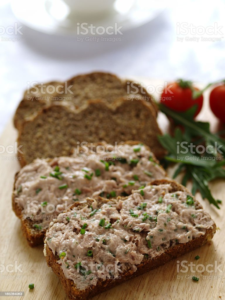 Tuna mayonasie sandwich royalty-free stock photo