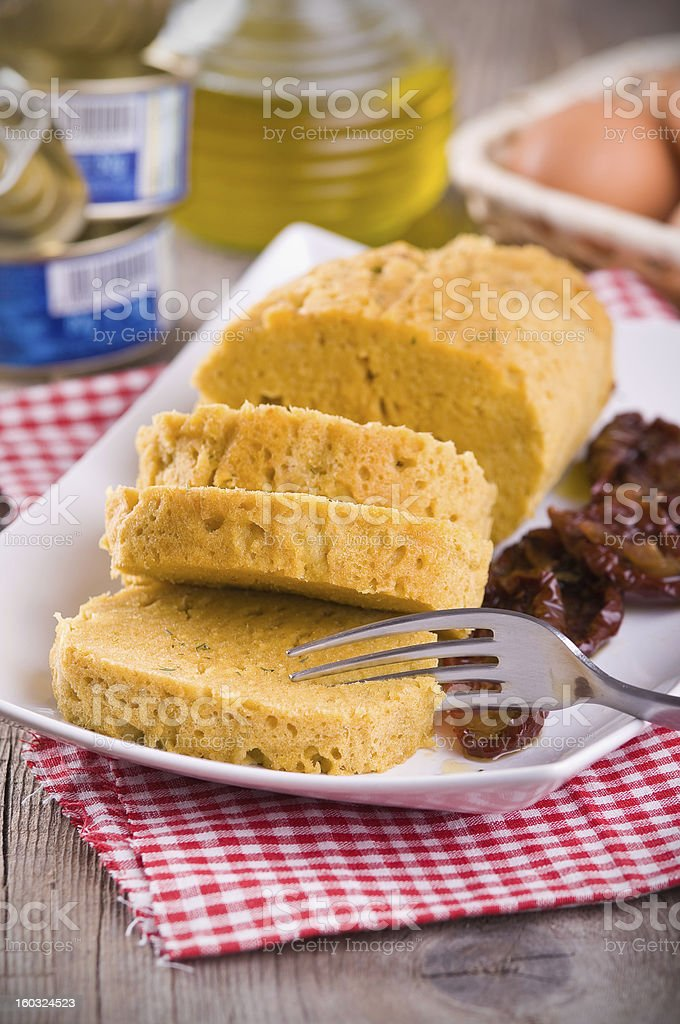 Tuna meatloaf. royalty-free stock photo