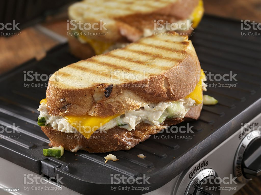 Tuna Melt Panini royalty-free stock photo