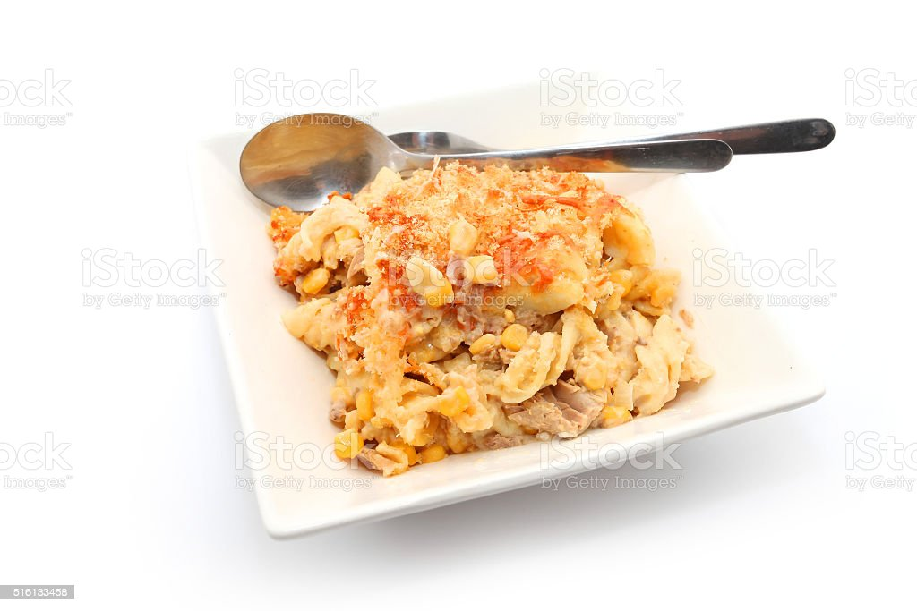 Tuna Mornay stock photo