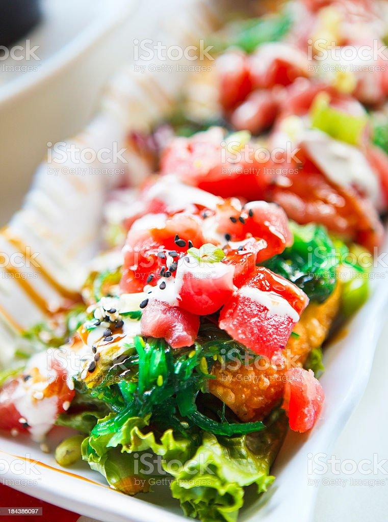 Tuna nachos royalty-free stock photo