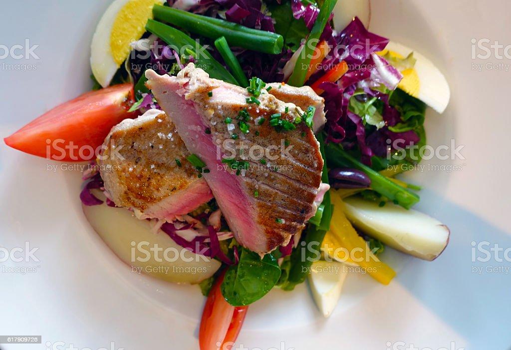 Tuna Nicoise stock photo