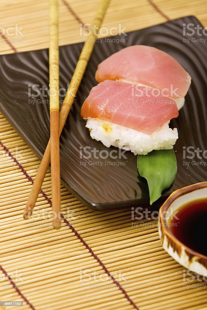 Tuna nigiri sushi royalty-free stock photo