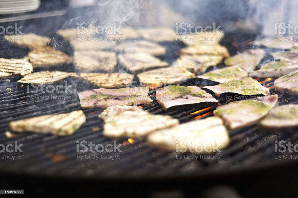 Tuna on Barbecue royalty-free stock photo