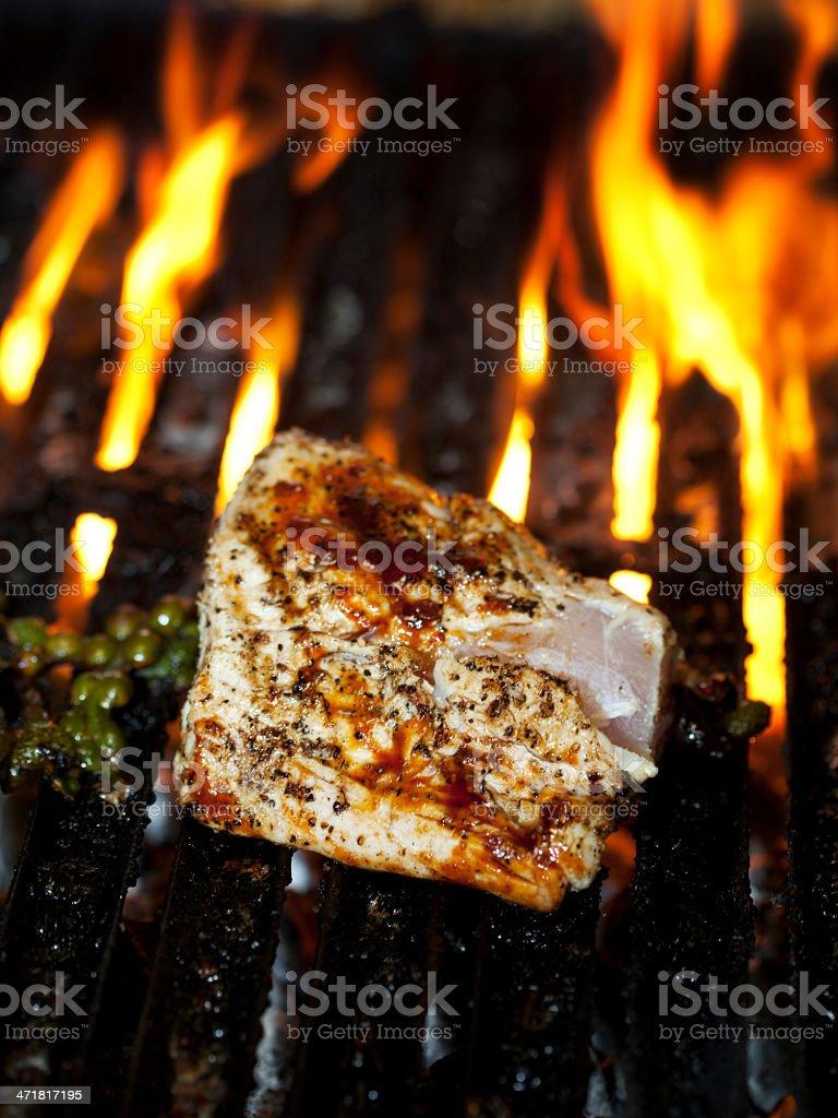 Tuna on the Grill stock photo