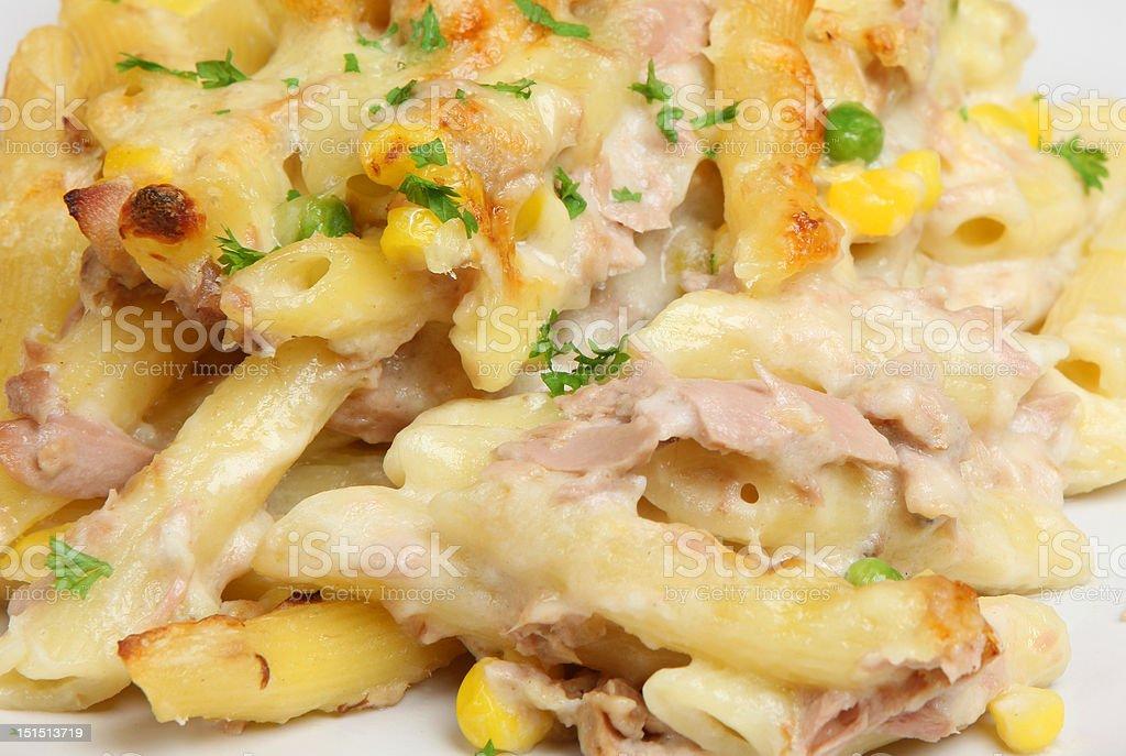 Tuna Pasta Bake stock photo