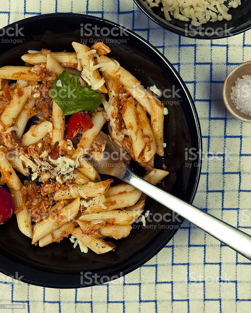 Tuna Pasta stock photo