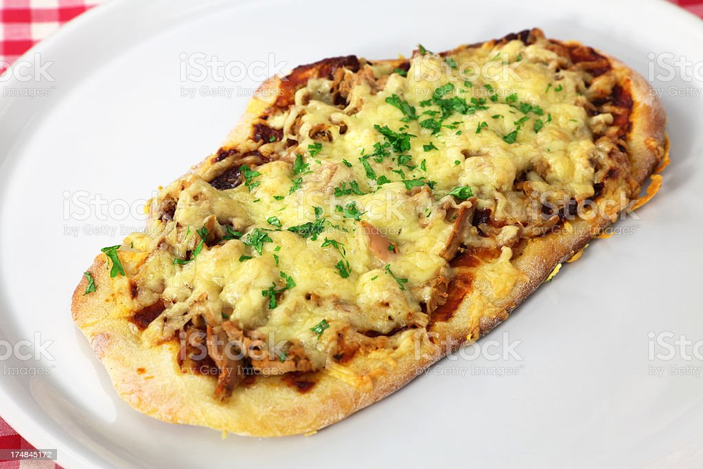 Tuna Pizza royalty-free stock photo