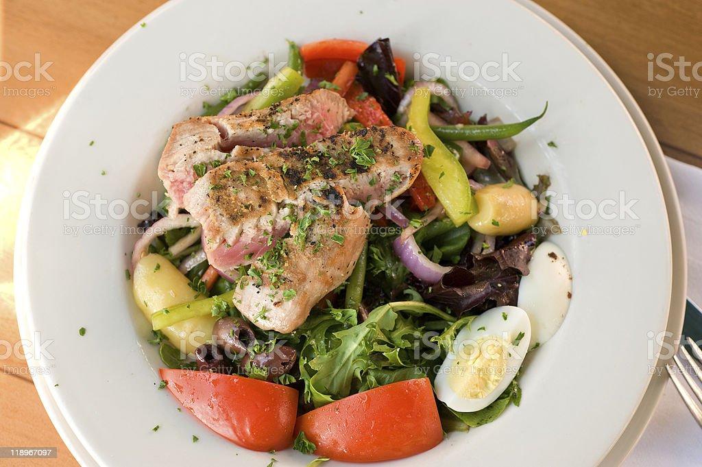 Tuna plate royalty-free stock photo