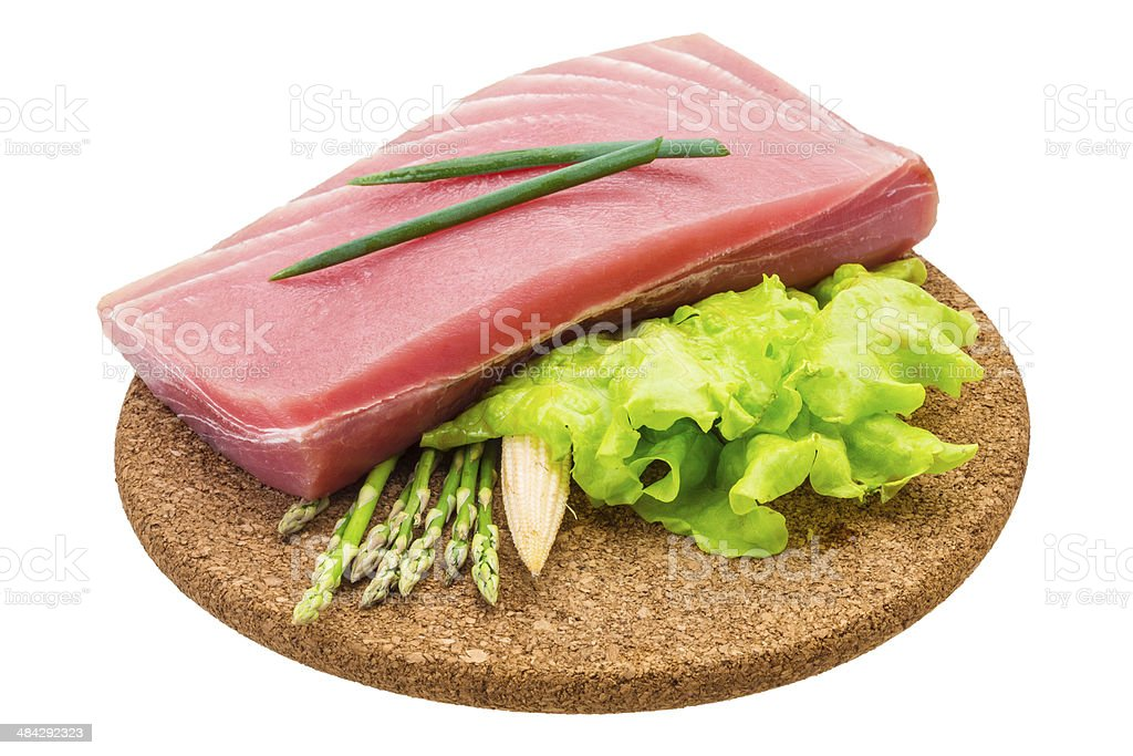 Tuna raw steak royalty-free stock photo