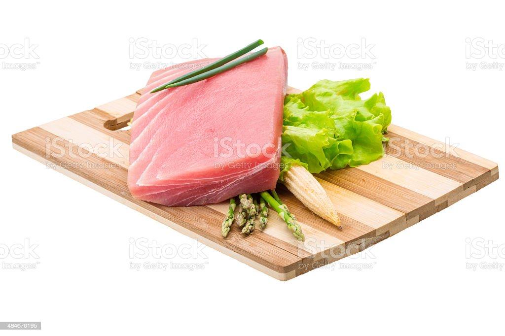 Tuna raw steak royalty-free stock photo
